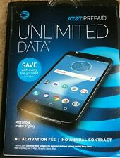 BRAND NEW  Motorola MOTO E5 Play - 16GB - Black(AT&T) Smartphone BLACK