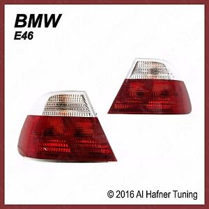 BMW 325Ci 328Ci M3 E46 2-door & Cab Red/White Tail Lights 63218383825 / 826