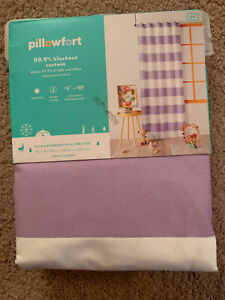 "Pillowfort Lavender Stripe Blackout Curtain Panel 42"" W x 84"" L NIP"