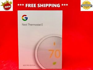 BRAND NEW Google NEST Thermostat E Smart Programmable LEARNING - PRO Edition