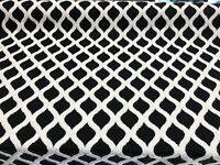 Valiant Time Black Embroidered Modern Rope Fabric by the yard