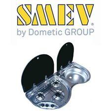 Smev 3 Burner Stove & Sink Combo Stainless Steel (No Mixer) Caravan Camper Rv
