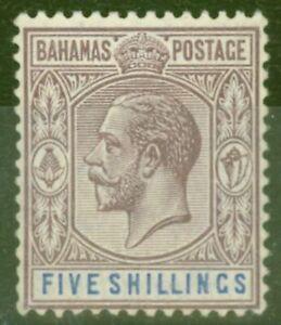 Bahamas 1912 5s Dull Purple & Blue SG88 Fine Very Lightly Mtd Mint