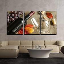 "Wall26 - Red Wine - Canvas Art Wall Decor - 16""x24""x3 Panels"