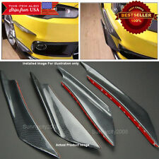 Carbon Effect Bumper Splitter Fin Wing Spoiler Canards Diffuser for Mercedes