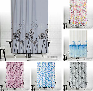 Tropik Home Fabric Bathroom Shower Curtain Extra Long/Wide 5 Different Sizes