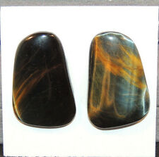 Blue Tiger's Eye 26.5x16.5mm with 4mm dome Cabochons Set of 2  (11508)