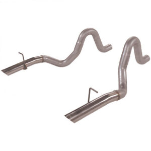 """Flowmaster Prebent Tailpipes 3"""" Rear Exit fits 87-93 FORD MUSTANG LX 5.0L"""