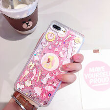 Girly Sailor Moon Bling Glitter Liquid Hard Phone Case For iPhone 6 6S 7 8 Plus