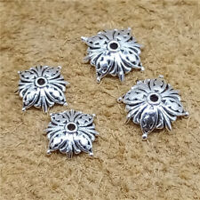 12 Sterling Silver Butterfly Bead Caps 925 Silver Bracelet Bead Spacers