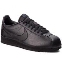Nike Classic Cortez Leather Men's UK 8 EUR 42.5  (749571 002) Black (lot1)