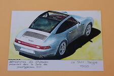 RE Certificat PORSCHE 911 Targa 1996 Miniatures Château Heco 1/43 voitures