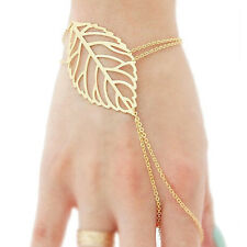 Leaf Finger Hand Ring Bracelet Slave Cuff! Retro Chic Hipster Hip Gothic