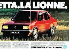 PUBLICITE ADVERTISING 027  1980   la Jetta Volkswagen (2p)  l'élégance Lionne