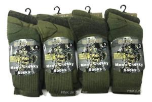 6 Pairs Mens Army Military Socks Thermal Hiking Boots Combat warm UK 6-11