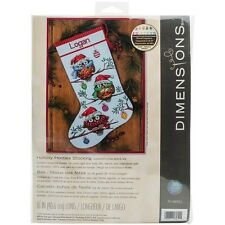 Dimensions Holiday Hooties Stocking Counted Cross Stitch Kit - 529353