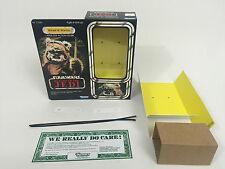 """Custom Vintage Star Wars Rotj 12"""" Wicket W. Warrick Ewok Caja + Insertos"""