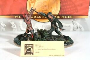 """CONTE ROG011 """"Test of Wills"""" 2 figure set with Base (French and Indian War)"""
