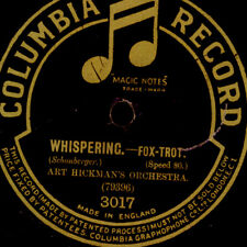 """ART HICKMAN'S ORCH. Whispering / Sweet and low -1920-   """"Golden 20'""""  78rpm S117"""