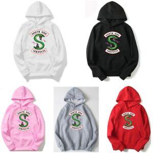 Unisex South Side Serpents Hoodie Sweatshirt Riverdale Hood Jumper Pullover Top