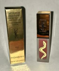 Yves Saint Laurent TATOUAGE COUTURE METALLICS Matte, 102 Iron Pink Spirit NIB