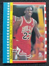 1987 Fleer Basketball Michael Jordan Sticker #2 (surface crease)
