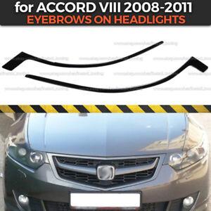 Eyelids Eyebrows on headlights for Honda Accord 8 / Acura TSX CU2 ABS plastic