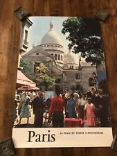Vintage 50's French Tourism Poster Paris France Travel Advertising
