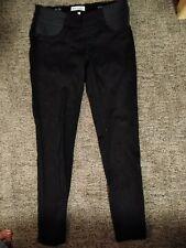 DL1961 Under Belly Jess Skinny Ankle Maternity Jeans Hail Black Womens Size 27