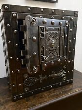 Italian 18th Century Wrought Iron Antique Hobnail Safe, Studded Strongbox Chest