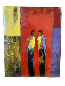 """Original Mixed Media Artwork Painting on Wood Wooden Board  8"""" x 10"""" NEW"""