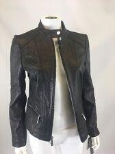 Michael Kors Women's Black Biker Leather Jacket Sz Small $450 *i62