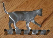 Cat Key rack holder scarf hooks metal decoration art, Kitty Feline Keys