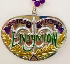 "Mardi Gras Bead Necklace Large Emblem Krewe of Endymion New Orleans La 18"""