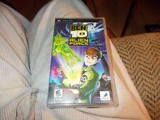 Ben 10: Alien Force (Sony PSP, 2008) COMPLETE IN BOX W/MANUAL DISC