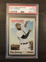 2019 Topps Heritage Eloy Jimenez Rookie PSA 10 Chicago White Sox RC QTY Avail.