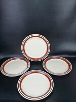 Contemporary Chateau Stoneware SIENNA BROWN Set of 4 Dinner Plates 10 1/2""