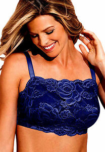 Comfort Choice Navy Blue Big Bra Plus Minimizer Intimate Wear Wireless Camisole
