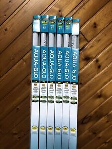 """Lot Of 6 Hagan Aqua-Glo 30W T8 Fish Color Enhancing Aquarium Lamp Bulb 36"""""""