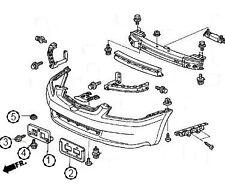NEW OEM HONDA FRONT LICENSE PLATE BRACKET 2003-2005 ACCORD SEDAN 4 DR W/HARDWARE