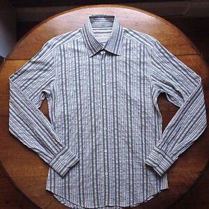 Vintage Mens TED BAKER Shirt Size UK4 / Large RRP $249.95 Wash & Wear