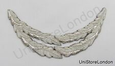 Peak 2 Rows Silver Wire Oakleaf cut to C15 shape R549