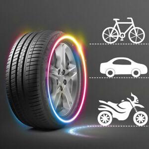 2pcs Color Changing Car Wheel Tire Tyre Air Valve Stem LED Light Cap Cover Trim