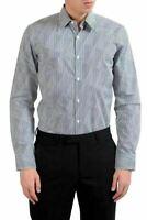 Fendi Men's Striped Long Sleeve Dress Shirt US 15.5 IT 39