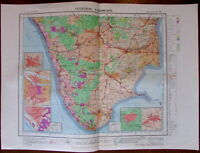 Trivandrum Southern India c.1979 huge National Atlas of India map