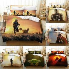Star Wars Mandalorian Bedding Set 3PCS Quilt Duvet Cover Pillowcase