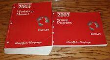 2003 Ford Escape Shop Service Manual + Wiring Diagram Set 03