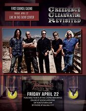 CREEDENCE CLEARWATER REVISITED 2016 OKLAHOMA CONCERT TOUR POSTER - Roots Rock