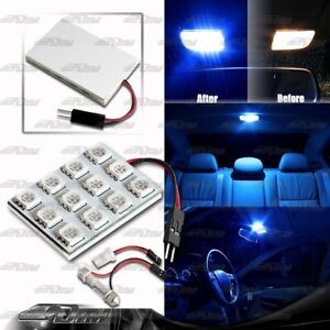 SMD Blue 12 LED Interior Dome Map Light Panel T10 & Festoon Adapter For NISSAN
