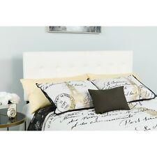 Flash Furniture Lennox Tufted Upholstered Full Size Headboard in White Vinyl